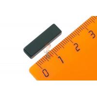 Магнитное крепление с отверстием В25 - Неодимовый магнит прямоугольник 20х4х6 мм, черный, N50