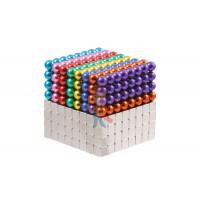Forceberg Cube - куб из магнитных шариков 6 мм, красный, 216 элементов - Forceberg Cube - куб из магнитных шариков и кубиков 5 мм, цветной/стальной, 512 элементов