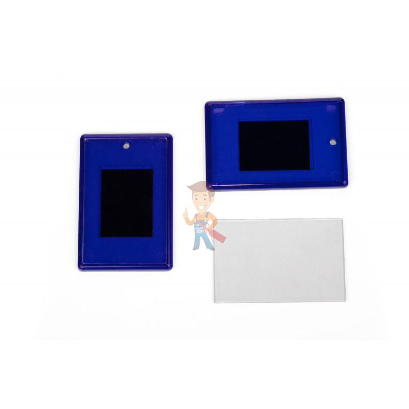 Акриловая заготовка для магнита Forceberg 52х77 мм, синяя, 10 шт. - фото 1