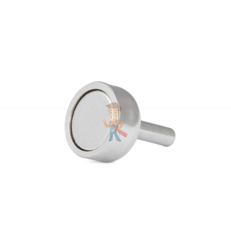 Магнитное крепление D12 со стержнем - подставка на магните для топпера, ценников, рамок, плакатов - фото 1