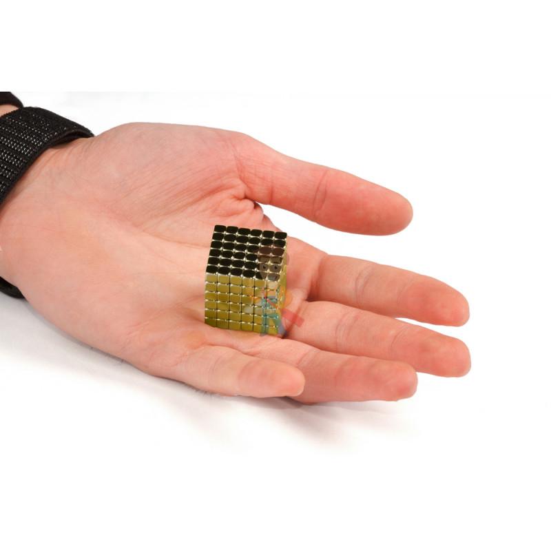 Forceberg TetraCube - куб из магнитных кубиков 5 мм, золотой, 216 элементов - фото 3