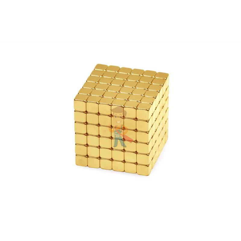 Forceberg TetraCube - куб из магнитных кубиков 5 мм, золотой, 216 элементов