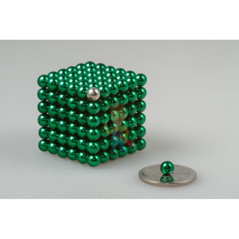 Forceberg Cube - куб из магнитных шариков 5 мм, зеленый, 216 элементов - фото 1