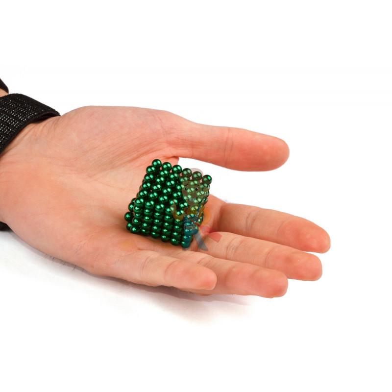 Forceberg Cube - куб из магнитных шариков 5 мм, зеленый, 216 элементов - фото 2