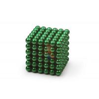 Forceberg TetraCube - куб из магнитных кубиков 6 мм, золотой, 216 элементов - Forceberg Cube - куб из магнитных шариков 5 мм, зеленый, 216 элементов