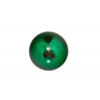 Магнитная застежка 10х2 мм с ПВХ - Неодимовый магнит шар 5 мм, зеленый