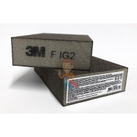 Лист шлифовальный для чистовой обработки поверхности S UFN светло-серый 158 мм х 224мм - Губка четырехсторонняя, FIN, мягкая, 100 мм х 68 мм х 26 мм, 63198