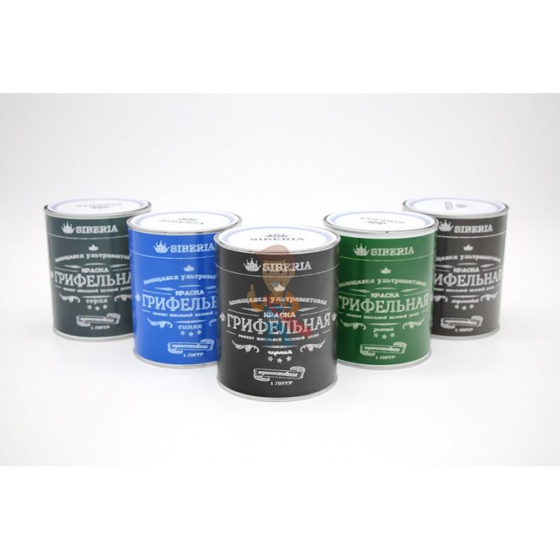 Грифельная краска Siberia 1 литр, синий, на 5 м² - фото 2