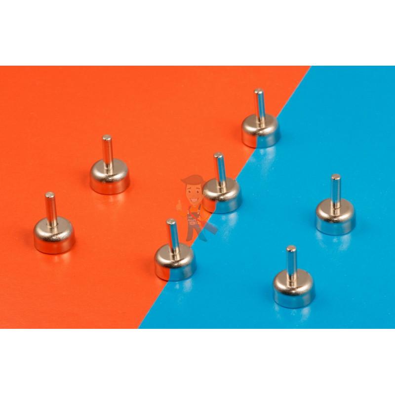 Магнитное крепление D12 со стержнем - подставка на магните для топпера, ценников, рамок, плакатов - фото 6