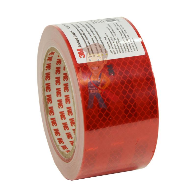 Лента светоотражающая 3M 983-72, алмазного типа, красная, 53,5 мм х 10 м - фото 3