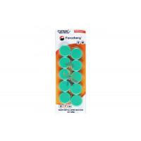 Магнит для магнитной доски Forceberg 30 мм, зеленый, 10шт. - Магнит для магнитной доски Forceberg 30 мм, зеленый, 10шт.