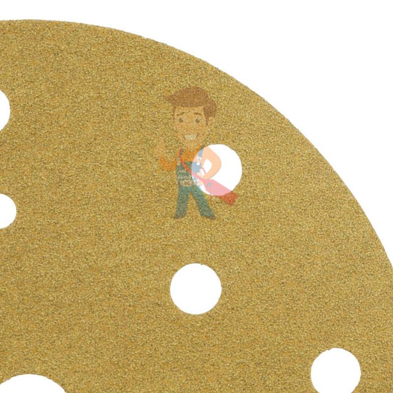 Круг Абразивный, золотой, 15 отверстий, Р360, 150 мм,3M Hookit 255P+ 10 шт/уп. - фото 4