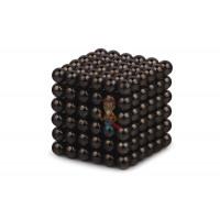 Forceberg Cube - куб из магнитных шариков 5 мм, стальной, 216 элементов - Forceberg Cube - куб из магнитных шариков 5 мм, черный, 216 элементов
