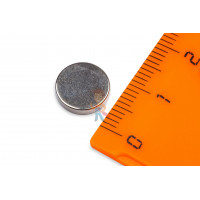 Магнитное крепление с отверстием В42 - Неодимовый магнит диск 10х2 мм