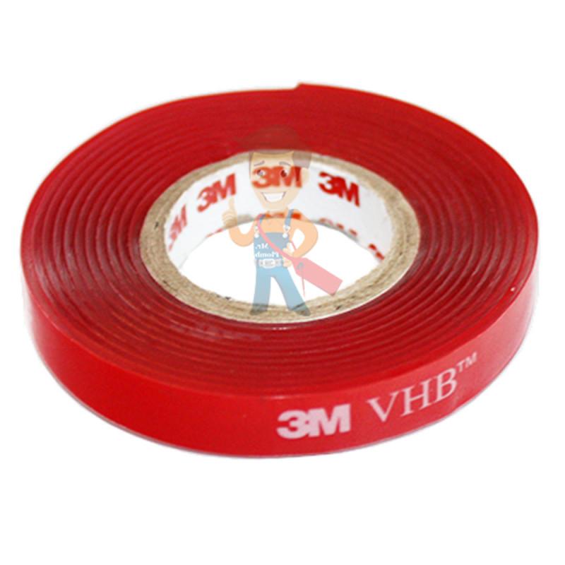 Клейкая лента монтажная 3М VHB 4910F, двусторонняя, прозрачная, 6 мм х 1,5 м - фото 2