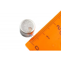 Магнитное крепление с отверстием А20 - Неодимовый магнит диск 10х8,3 мм, N35