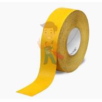 Лента Противоскользящая эластичная, тонкая, для влажных помещений, прозрачная, размер 50,8 мм x 18,3 - Лента Противоскользящая формуемая желтая, размер 51 мм x 18.3 м