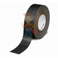 Лента Противоскользящая эластичная, тонкая, для влажных помещений, прозрачная, размер 50,8 мм x 18,3 - Лента Противоскользящая формуемая черная, размер 51 мм x 18,3 м