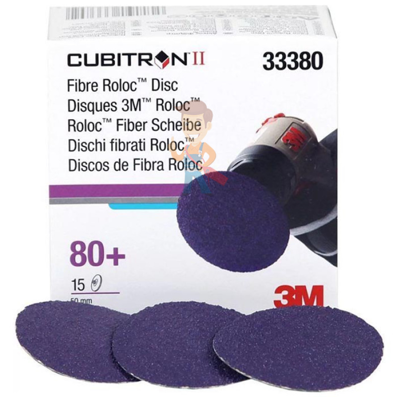 Круг зачистной 786C Cubitron™ II Roloc™, 50 мм, 80+, 3 шт./уп.