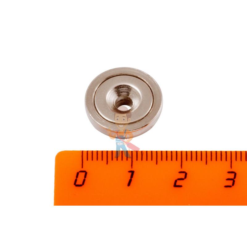 Магнитное крепление Forceberg с отверстием для самореза A16, 6 шт. - фото 2