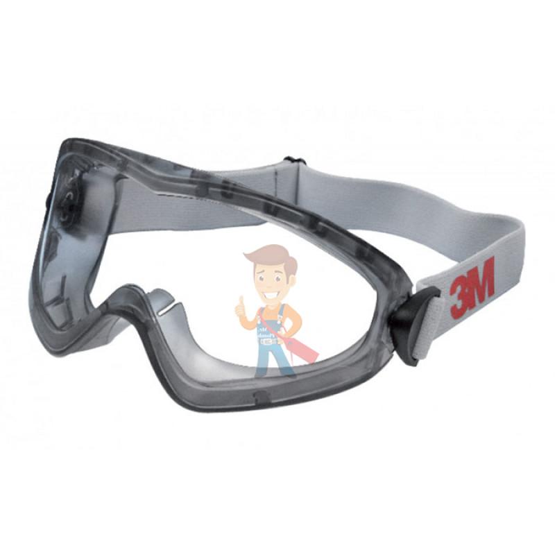 Защитные закрытые очки 2890 из поликарбоната, с непрямой вентиляцией