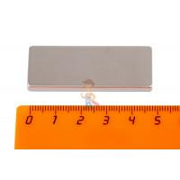 Магнитное крепление с отверстием А20 - Неодимовый магнит прямоугольник 50х20х4 мм