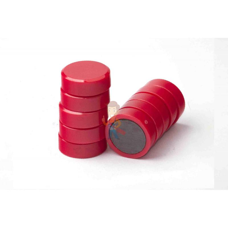 Магнит для магнитной доски FORCEBERG 20 мм, красный, 10шт. - фото 2