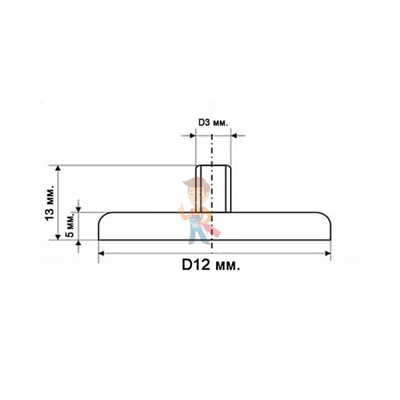 Магнитное крепление под болт К-12 (М3) - фото 7