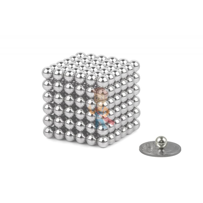 Forceberg Cube - куб из магнитных шариков 6 мм, жемчужный, 216 элементов - фото 1