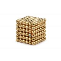 Forceberg Cube - куб из магнитных шариков 5 мм, оранжевый, 216 элементов - Forceberg Cube - куб из магнитных шариков 6 мм, золотой, 216 элементов