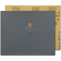 Круг Абразивный, золотой, 15 отверстий, Р320, 150 мм,3M™ Hookit™ 255P+, 10 шт/уп - Лист абразивный 401Q, микротонкий, 2000А, 138 мм х 230 мм, Wetordry™