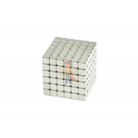 Forceberg TetraCube - куб из магнитных кубиков 5 мм, стальной, 216 элементов - Forceberg TetraCube - куб из магнитных кубиков 4 мм, жемчужный, 216 элементов