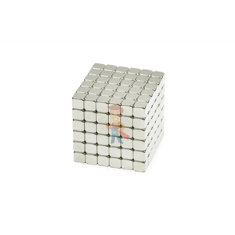 Forceberg TetraCube - куб из магнитных кубиков 4 мм, жемчужный, 216 элементов