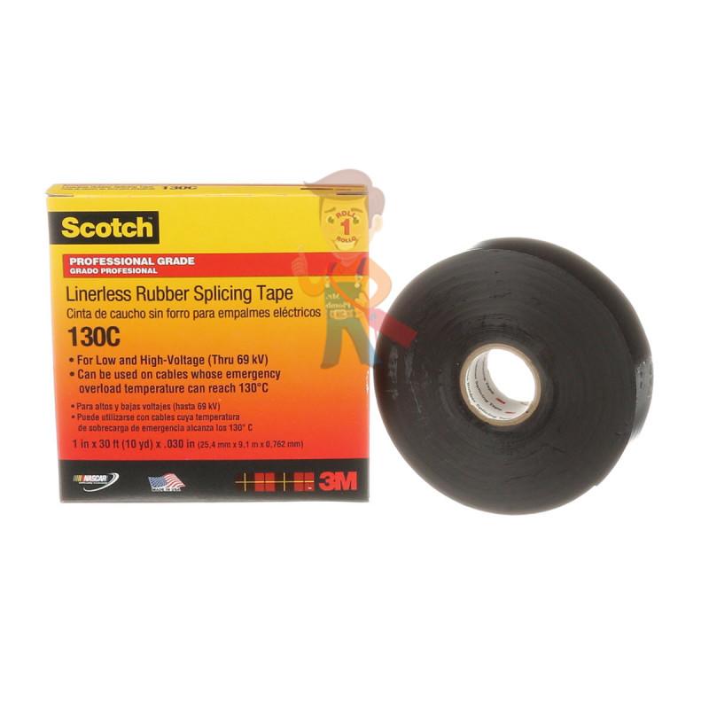 Изолента самослипающаяся резиновая Scotch® 130C, 25 мм х 9,1 м - фото 1