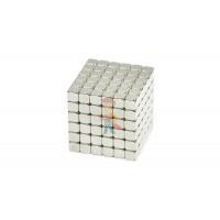 Forceberg TetraCube - куб из магнитных кубиков 7 мм, стальной, 216 элементов - Forceberg TetraCube - куб из магнитных кубиков 5 мм, жемчужный, 216 элементов