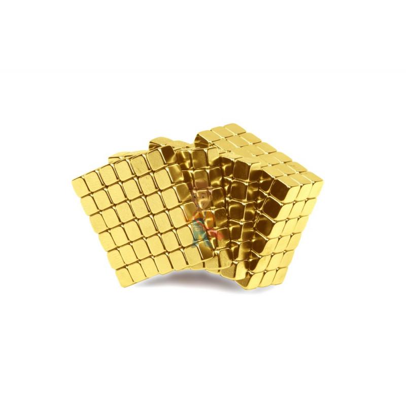 Forceberg TetraCube - куб из магнитных кубиков 4 мм, золотой, 216 элементов - фото 1