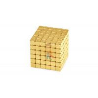 Forceberg Cube - куб из магнитных шариков 5 мм, белый, 216 элементов - Forceberg TetraCube - куб из магнитных кубиков 4 мм, золотой, 216 элементов