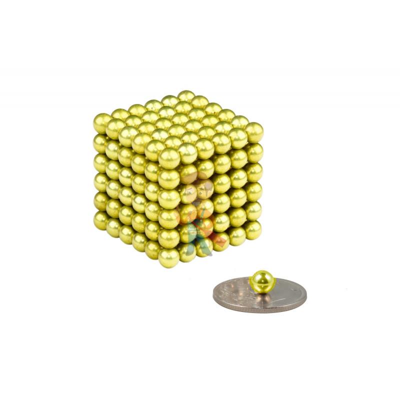 Forceberg Cube - куб из магнитных шариков 5 мм, оливковый, 216 элементов - фото 1