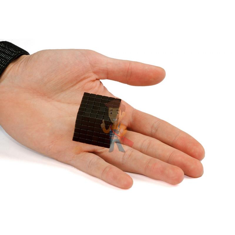 Forceberg TetraCube - куб из магнитных кубиков 6 мм, черный, 216 элементов - фото 3